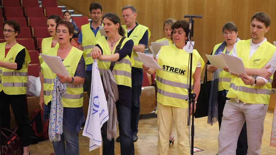 Streik Rundfunkchor Berlin im Großen Sendesaal (2)