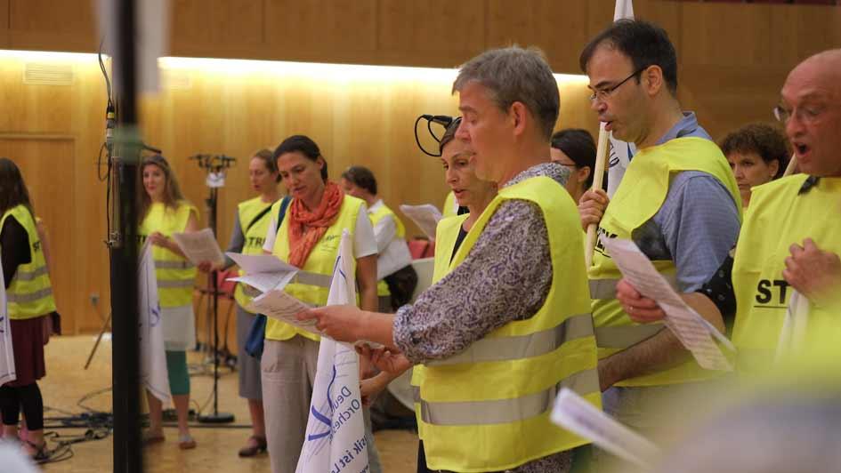 Streik Rundfunkchor Berlin im Großen Sendesaal (3)