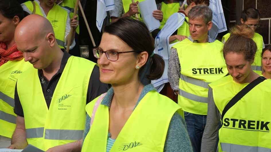 Streikprozession Rundfunkchor Berlin