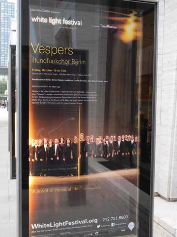 Konzertankündigung am Lincoln Center