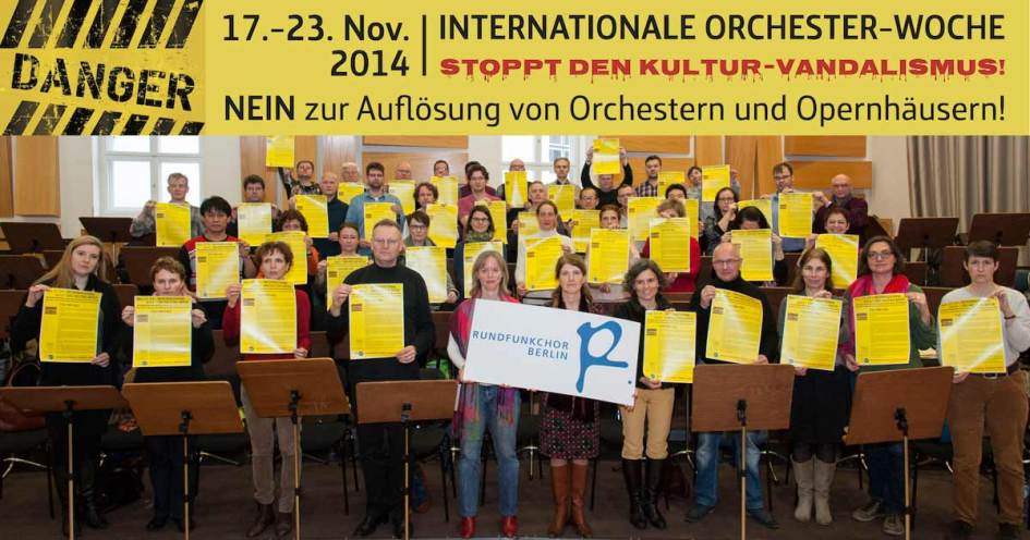 Der Rundfunkchor Berlin unterstützt die Kampagne der FIM
